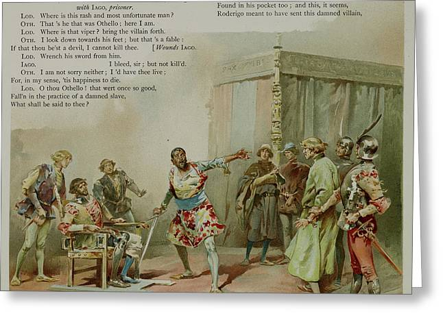 Othello. The Moor Of Venice Greeting Card