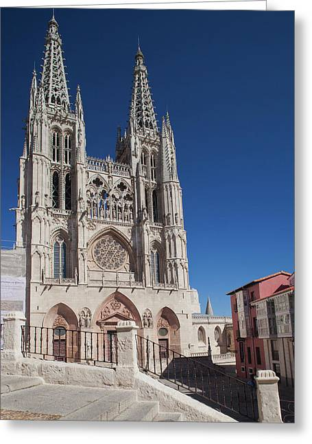 Spain, Castilla Y Leon Region, Burgos Greeting Card by Walter Bibikow