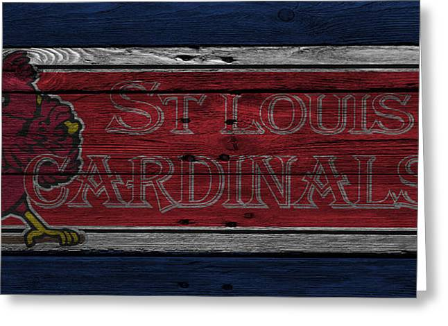 St Louis Cardinals Greeting Card by Joe Hamilton