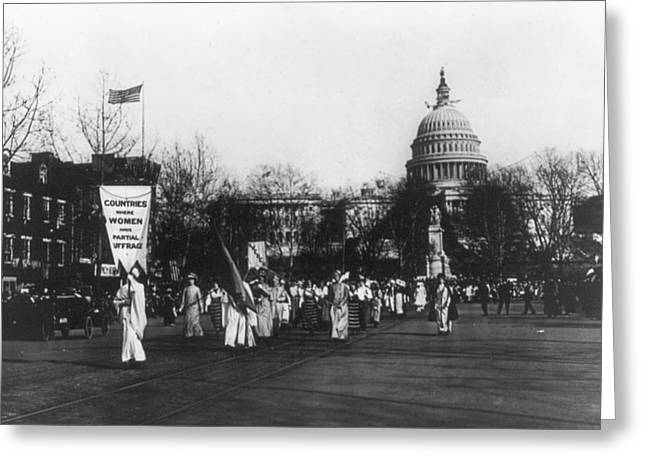 Suffrage Parade, 1913 Greeting Card