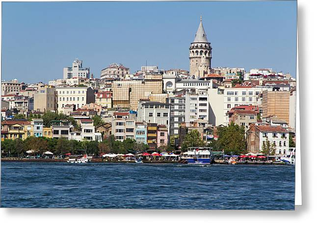 Turkey, Istanbul Greeting Card by Emily Wilson