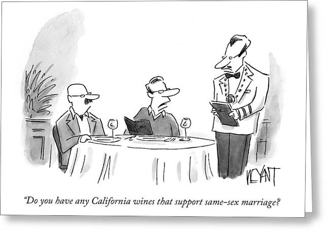 Do You Have Any California Wines That Support Greeting Card