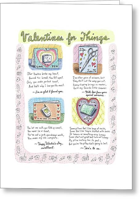 Valentines For Things Greeting Card