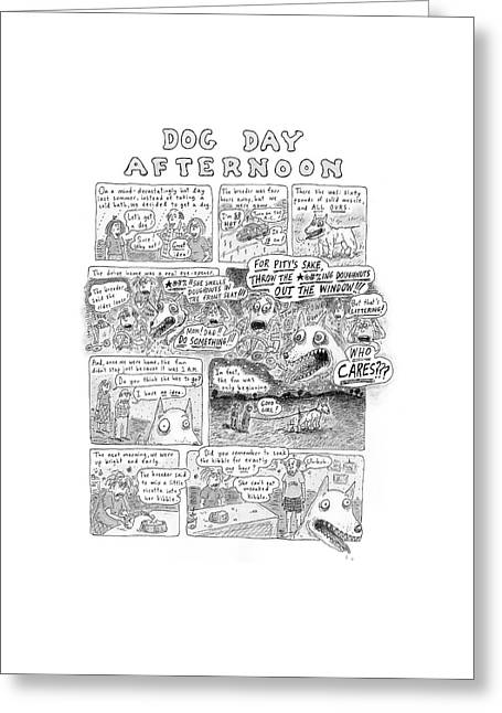 New Yorker November 12th, 2001 Greeting Card by Roz Chast