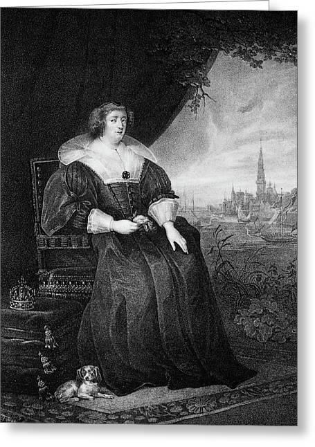 1600s Portrait Of Marie De Medici Queen Greeting Card