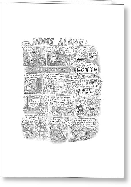 New Yorker December 17th, 2001 Greeting Card by Roz Chast