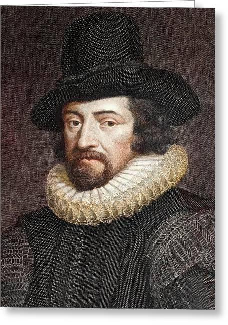 1618 Sir Francis Bacon Scientist Portrait Greeting Card