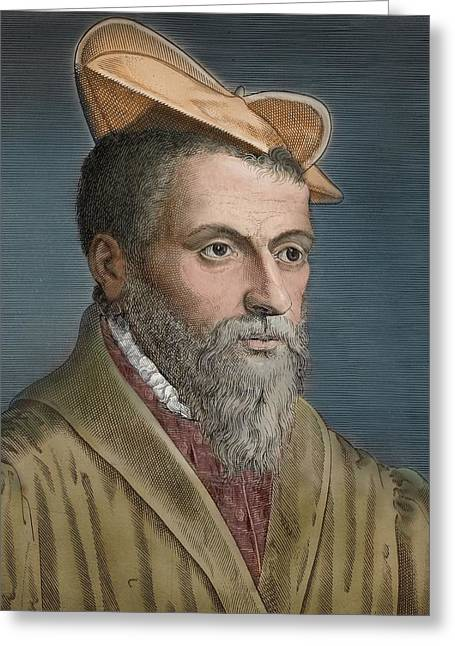 1650's Portrait Pierre Belon Naturalist Greeting Card by Paul D Stewart
