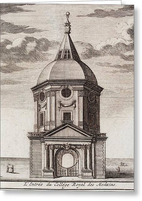 1677 Royal College Of Physicians Greeting Card