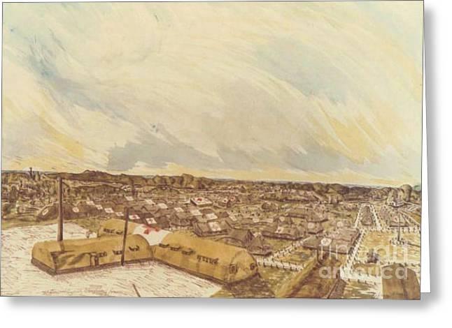 167th General Hospital Cherbourg France Ww II Greeting Card