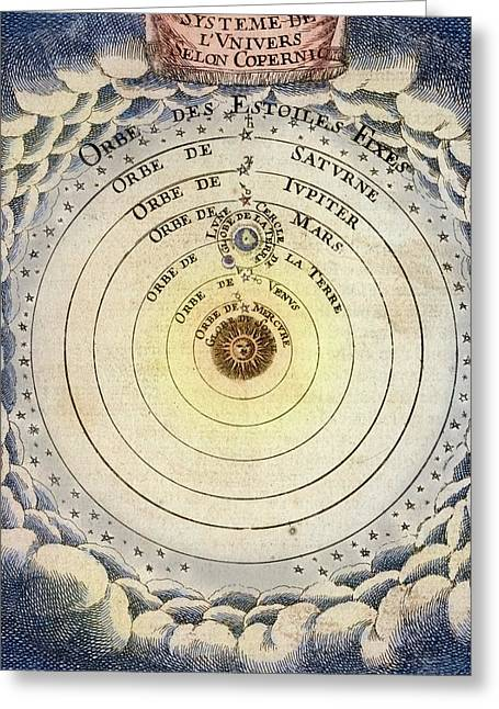 1683 Copernicus Universe Early Print Greeting Card