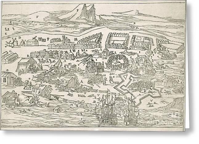 1692 Port-royal Earthquake, Jamaica Greeting Card