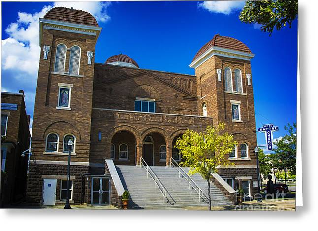 Greeting Card featuring the photograph 16th Street Baptist Church by Ken Johnson