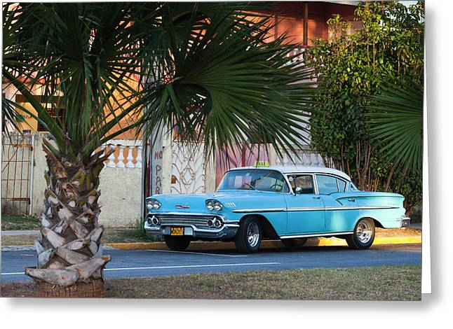 Cuba, Matanzas Province, Varadero Greeting Card by Walter Bibikow
