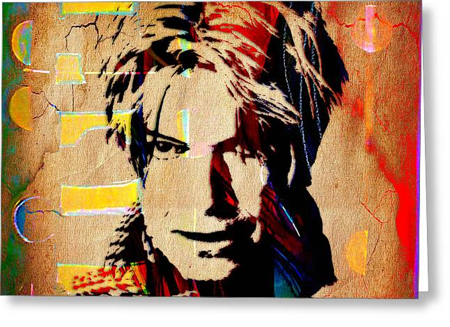 David Bowie Collection Greeting Card by Marvin Blaine
