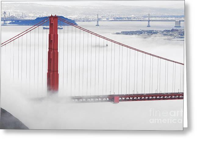 Golden Gate Bridge Greeting Card by Mariusz Blach