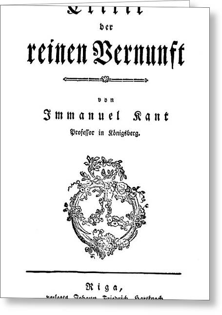 Immanuel Kant (1724-1804) Greeting Card