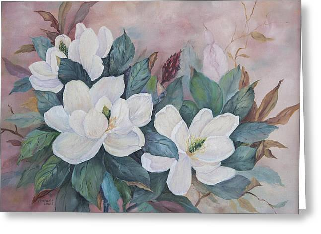 Flowers Of The South Greeting Card by Frances Lewis