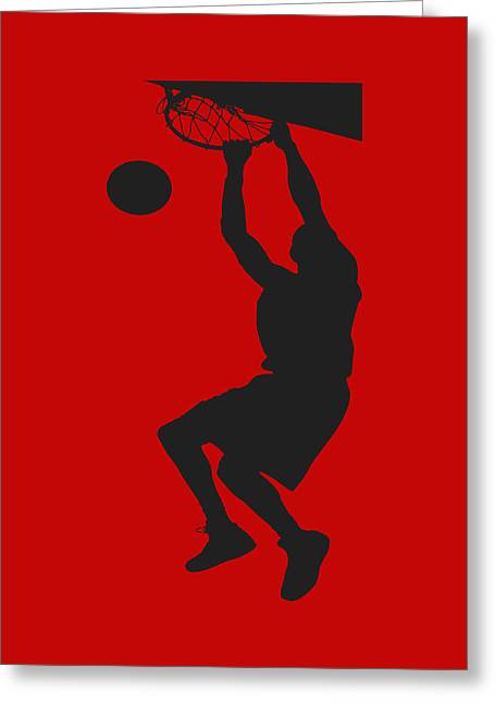 Nba Shadow Player Greeting Card