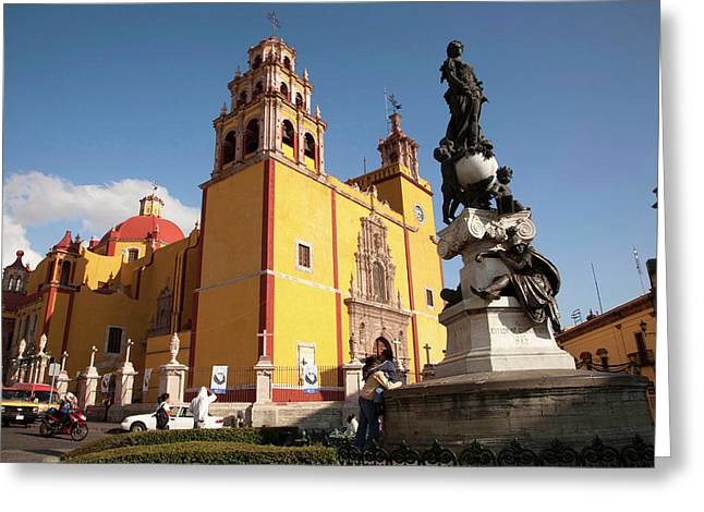 North America, Mexico, Guanajuato Greeting Card by John and Lisa Merrill