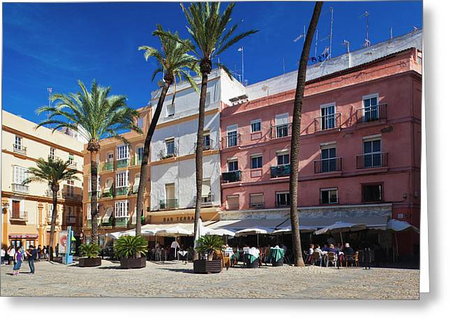 Spain, Andalucia Region, Cadiz Greeting Card by Walter Bibikow