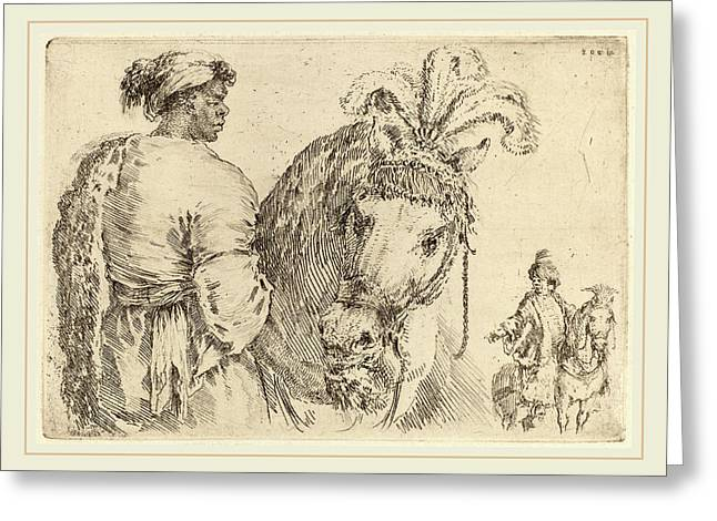 Stefano Della Bella Italian, 1610-1664 Greeting Card by Litz Collection