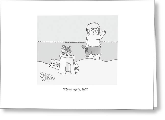 Thanks Greeting Card by Gahan Wilson