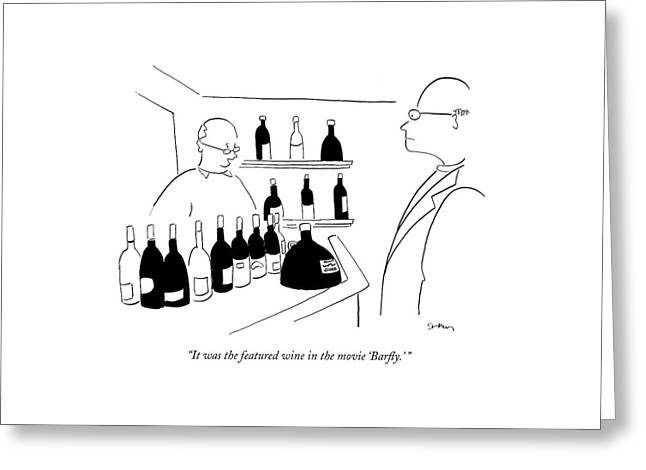 It Was The Featured Wine In The Movie 'barfly.' Greeting Card by Michael Shaw