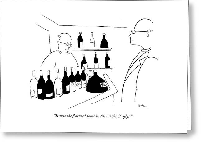 It Was The Featured Wine In The Movie 'barfly.' Greeting Card
