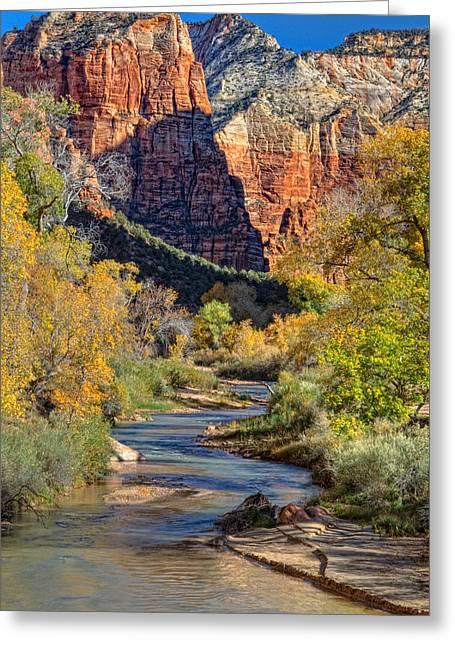 Zion National Park Utah Greeting Card by Utah Images