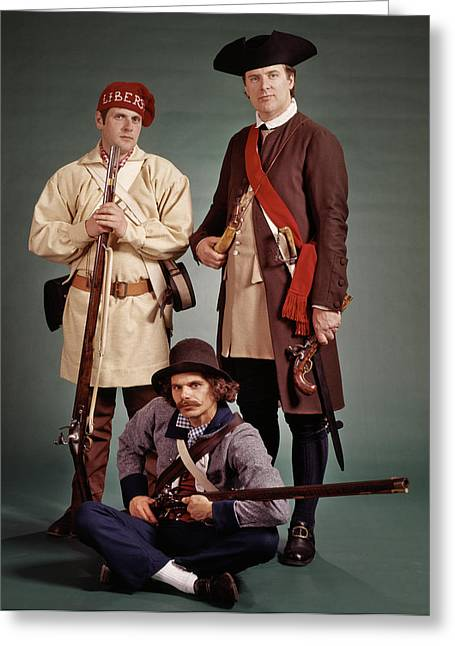 1700s 1776 Colonial Militiamen Greeting Card