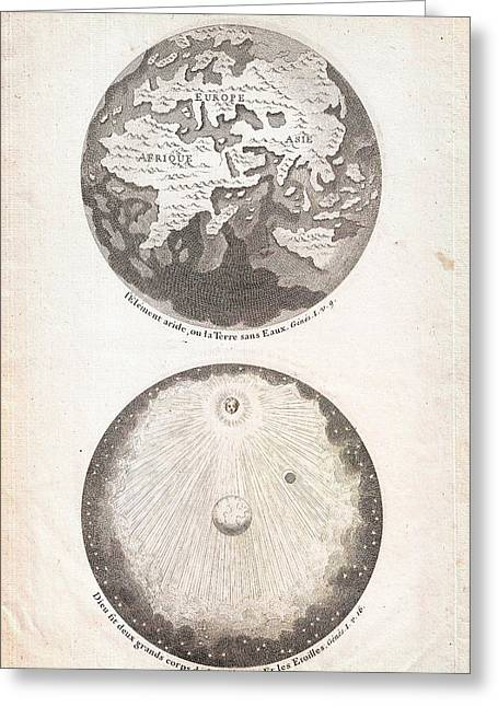 1728 Calmet Map Of The Ancient World Showing The Creation Of The Universe Geographicus Ancientworld  Greeting Card
