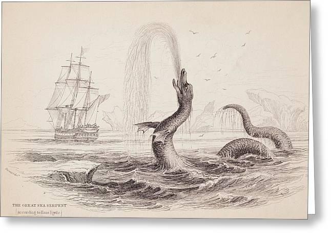1734 Hans Egede Sea Monster Serpent Greeting Card
