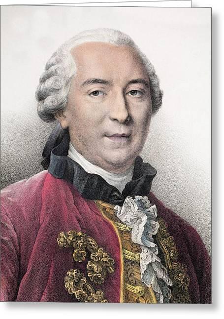 1761 Contemporary Portrait Comte Buffon Greeting Card