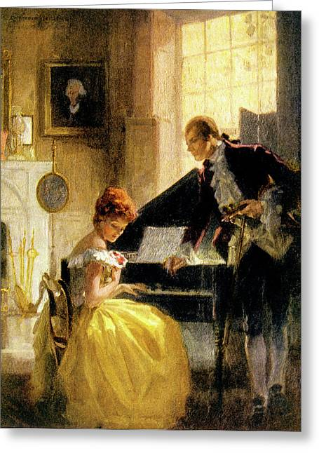 1770s 1771 The Proposal Of Thomas Greeting Card