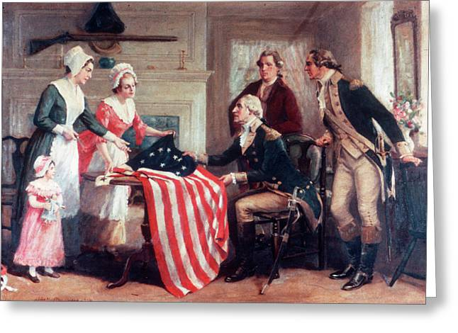 1770s Painting Of Betsy Ross & Greeting Card