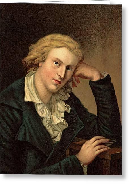 1780s Friedrich Von Schiller Looking Greeting Card