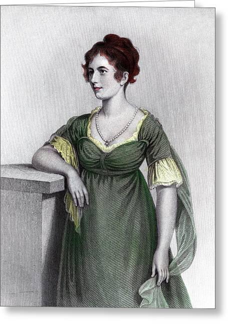 1790s Portrait Sally Foster Otis Greeting Card