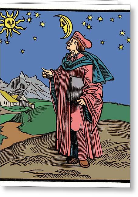 17th Century Astronomer Greeting Card by Detlev Van Ravenswaay