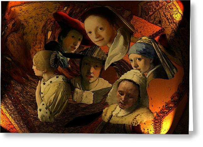 17th Century Maidens Greeting Card