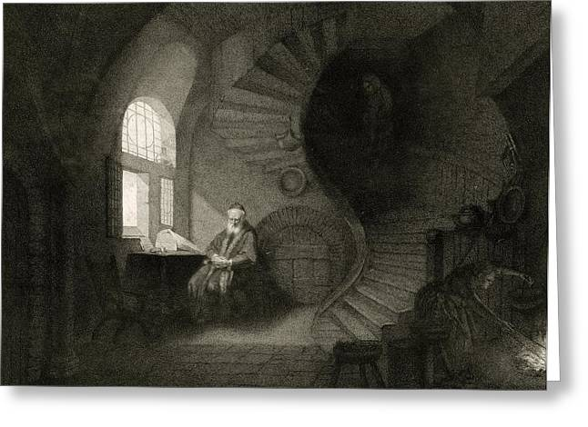 17th Century Philosopher, Artwork Greeting Card by Science Photo Library
