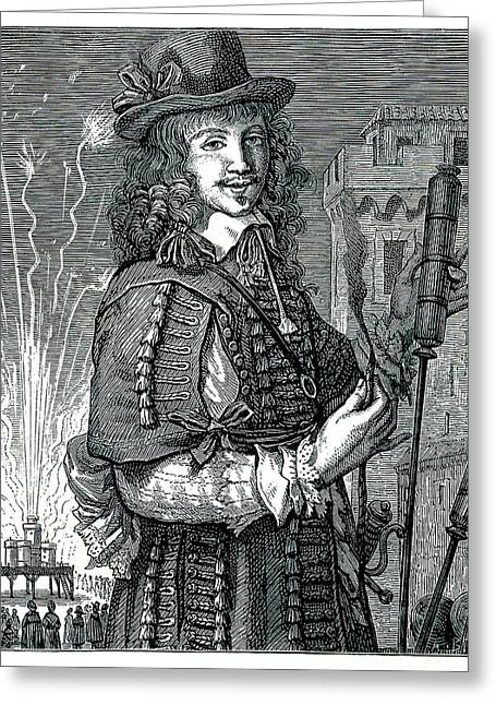 17th Century Pyrotechnist Greeting Card by Collection Abecasis