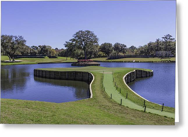 17th Hole Or Island Green At Tpc Sawgrass Greeting Card