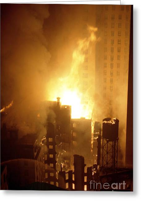 18 Alarm Hotel St George Fire Greeting Card by Steven Spak