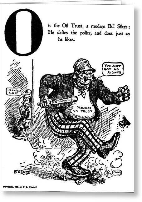 Anti-trust Cartoon, 1902 Greeting Card by Granger