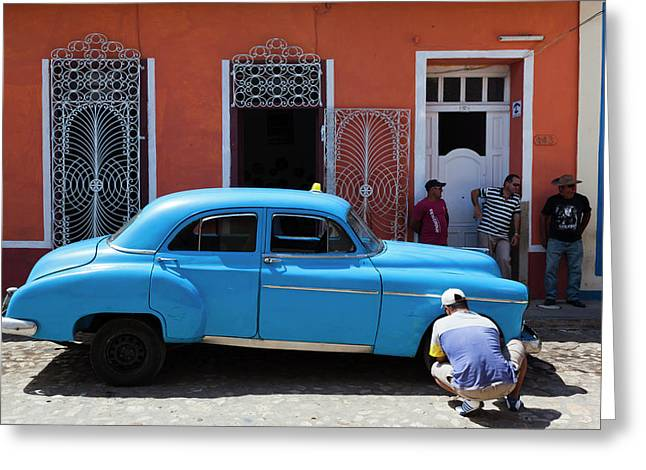 Cuba, Sancti Spiritus Province Greeting Card by Walter Bibikow