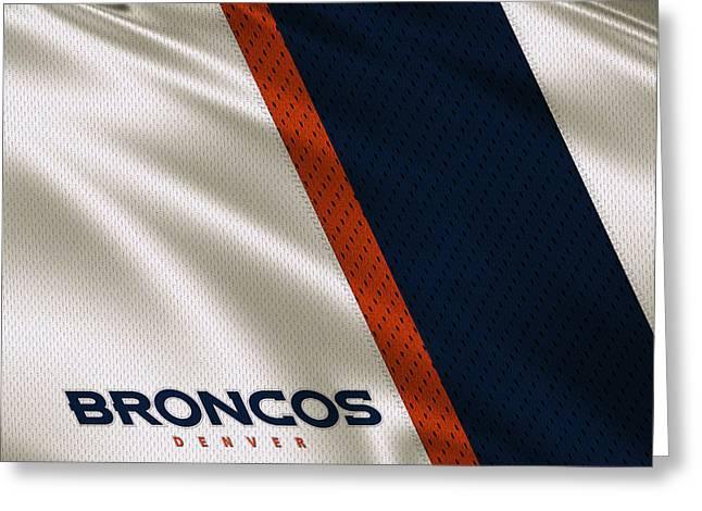 Denver Broncos Uniform Greeting Card