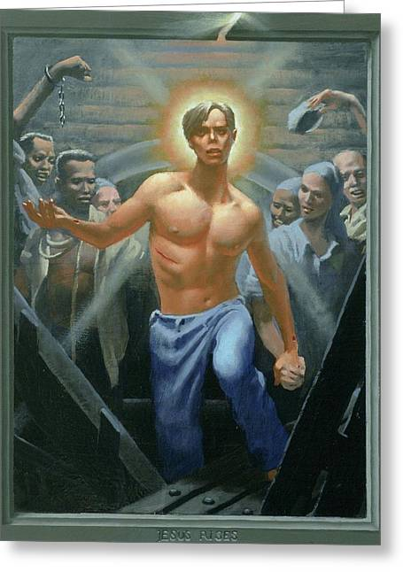 18. Jesus Rises / From The Passion Of Christ - A Gay Vision Greeting Card