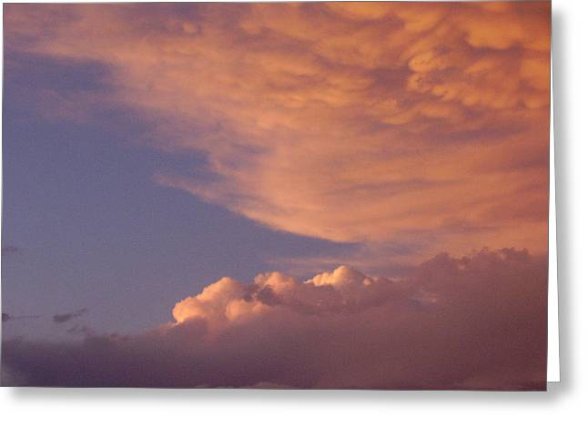 Montana Clouds Greeting Card by Yvette Pichette