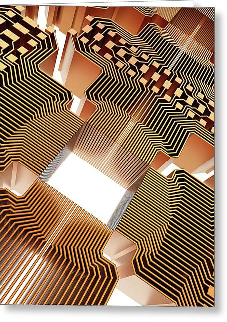 Quantum Computer Greeting Card by Alfred Pasieka